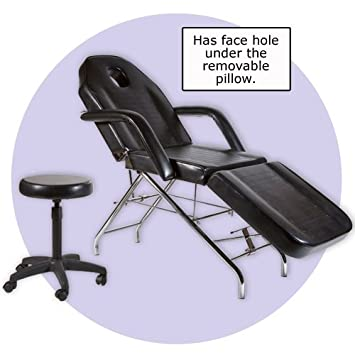 Facial, Massage, Esthetician Bed U0026 Stool Combo (SHIPS FREE FROM SALONSMART!)