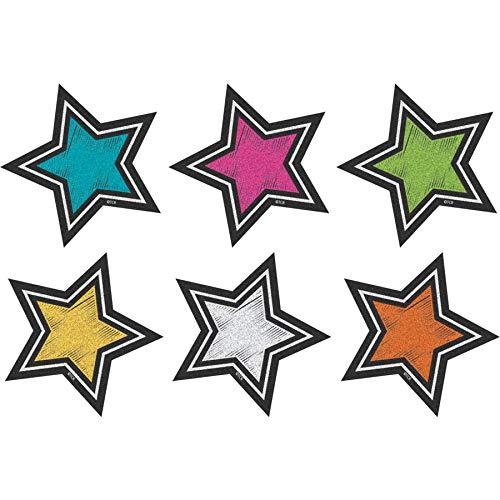 Teacher Created Resources (3554) Chalkboard Brights Stars Mini Accents