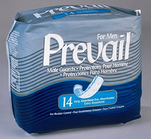Prevail PV-811 Prevail for Men Light to Maximum Absorbency Male Guards (Pack of 14)