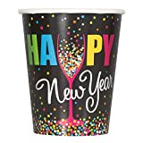 9oz Confetti New Years Party Cups, 8ct