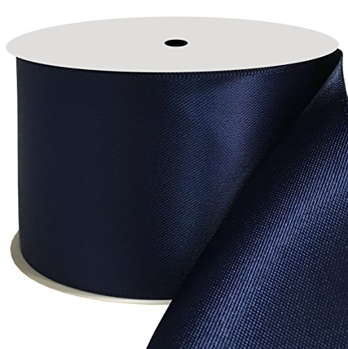 Duoqu 2 inch Wide Double Face Satin Ribbon 10 Yards Navy ()