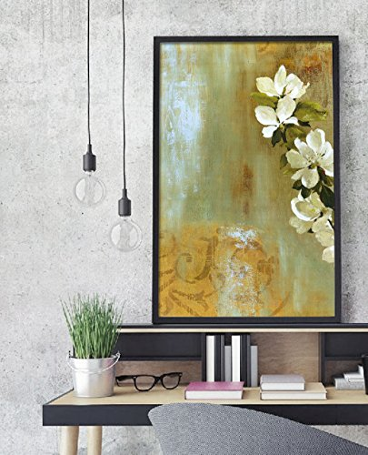 Pear Tree Photo (Inspiring Pear Flower Tree Oil Canvas Paintings, Nordic Style Wall Decor Canvas Picture Home LIving Room Cnavss Painting(No Frame,16x24inx1pc))
