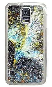 Brian114 Samsung Galaxy S5 Case, S5 Case - Fashion Crystal Clear Hard Case for Samsung Galaxy S5 Green Light Phoenix Waterproof Back Hard Case for Samsung Galaxy S5 I9600