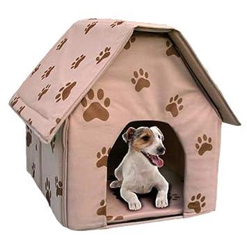 QTDCL Tienda de Mascotas Cama Plegable portátil del Gato de la casa de Perro para la Fuente del Animal doméstico del pequeño Perro, 40X44X44Cm: Amazon.es: ...