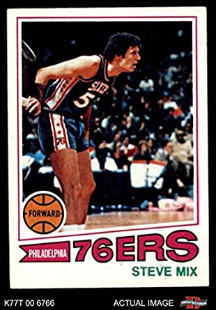 f30378990 1977 Topps   116 Steve Mix Philadelphia 76ers (Basketball Card) Dean s  Cards 5 -