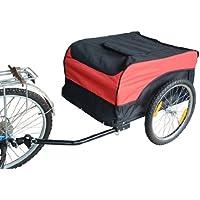 HOMCOM® Transportanhänger Lastenanhänger Fahrrad Anhänge Lasten-Fahrradanhänger CargoTrailer