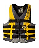 Body Glove Men's US Coast Guard Approved Type III Torque 2 Nylon PFD Life Vest (Black/Yellow, Large)