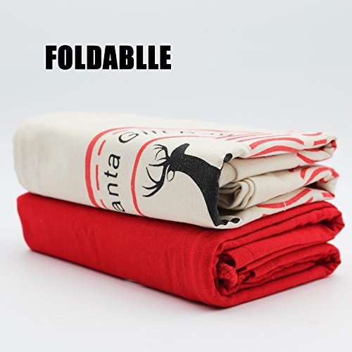 HOOPLE X'mas Present Sacks Christmas Bags for Kids Personalize Christmas Gift Wrap Santa Sacks (Random-6 packs) by Hoople (Image #5)