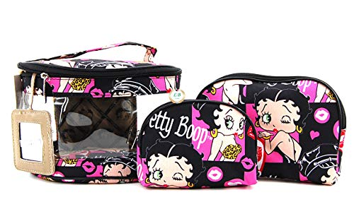 Betty Boop Makeup Bag 3 Pieces Set (Multi)