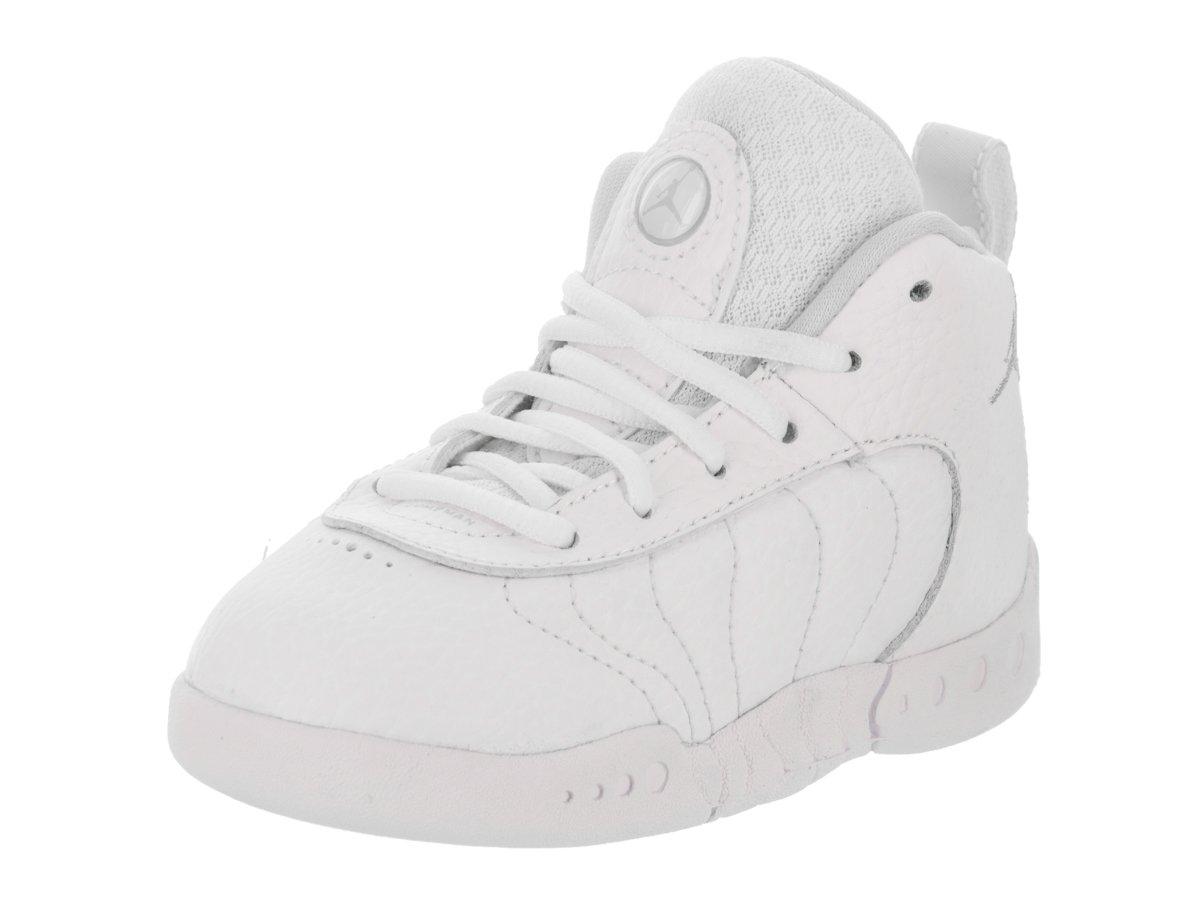 Jordan Nike Toddlers Jumpman Pro BT White/Pure Platinum Basketball Shoe 7 Infants US