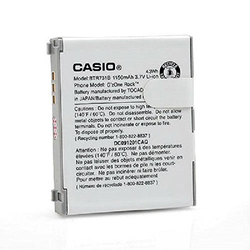 Casio OEM Standard Battery for Casio G'zOne Rock C731 BTR731B