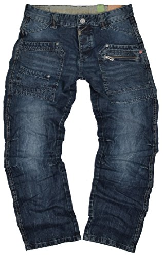 "Timezone Herren Jeans Clay ""3983 Urban Indigo Wash"" Cargo Worker"