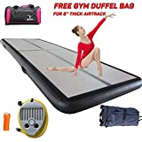 Air Track Tumbling mat 10ft Long 4 Inches HIGH Inflatable Gymnastics airtrack with Air Pump for Practice Gymnastics, Tumbling,Parkour, Home Floor and Martial Arts