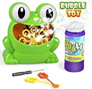 Bubble Machine, Automatic Durable Bubble Blower Over 500 Bubbles Per Minute with 1 Bottle Bubble Maker and 2 B