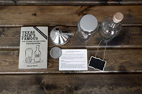 The SPIRIT INFUSION KIT - Infuse Your Booze! 70+ Homemade Flavored Vodka Recipes. Become an Infused Alcohol Cocktail Mixologist using the 110pg Recipe and Instruction Book. Great Gift & Party Hit! by Craft Connections Co. (Image #7)
