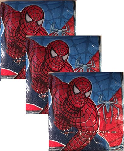 Marvel Spiderman 3 Lunch Napkins - 48 Count
