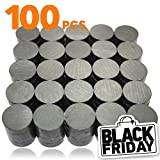X-bet MAGNET ™ 18 mm (.709 inch) - Small Round Magnets for Stick Notes on Refrigerator, Fridge, Whiteboard, Perfect Strong Ceramic for Craft Projects, School, Kitchen - 100pcs/box!