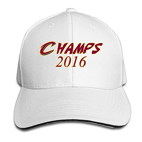 ACMIRAN Champs 2016 Logo Fashion Sandwich Baseball Caps One Size White