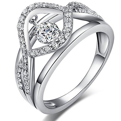 반지 댄싱 CZ다이아몬드 큐빅 지르코니아 여성반지 남성반지레이디  실버925 약혼 반지 결혼 반지 jiamiaoi