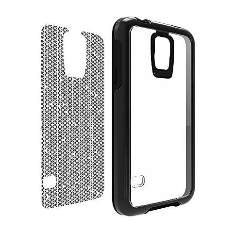 OtterBox My Symmetry Series Samsung Galaxy S5 Case -Black Crystal w/ Tri Grid Grey Graphic Insert (Otterbox Samsung Galaxy S5 Skin)