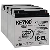 12v deep cycle battery pack - Xantrex Technology XPower Powerpack 400 Plus 12V 22 Ah Battery - Fresh&Real 22 Amp - Gel Deep Cycle AGM/SLA Designed Ride On - Genuine KEYKO KT-12220 HRT - Nut & Bolt L1-3 Pack