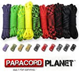Paracord Planet 550lb Type III Paracord Combo Crafting Kits with Buckles (ZOMBIE), Outdoor Stuffs