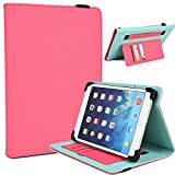 """NuVur Universal Faux Leather ::Rotating:: Folio 10"""" inch Tablet Case Fits Amazon Kindle Fire HD 10