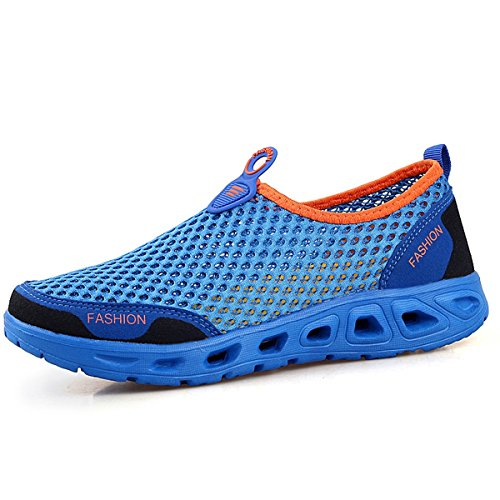 Shoes Da Ginnastica Mesh On Blu Walking Slip Vecjunia Scarpe Mans OPwqXX