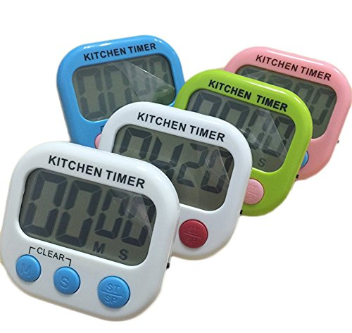 - Wnakeli 1Pc Timer Clock Digital Timer Product Process Resin Shell LCD Digital Display Electronic Timer Kitchen Simple Modern