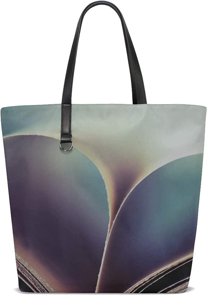 Book Leaves Page Heart Tote Bag Purse Handbag For Women Girls