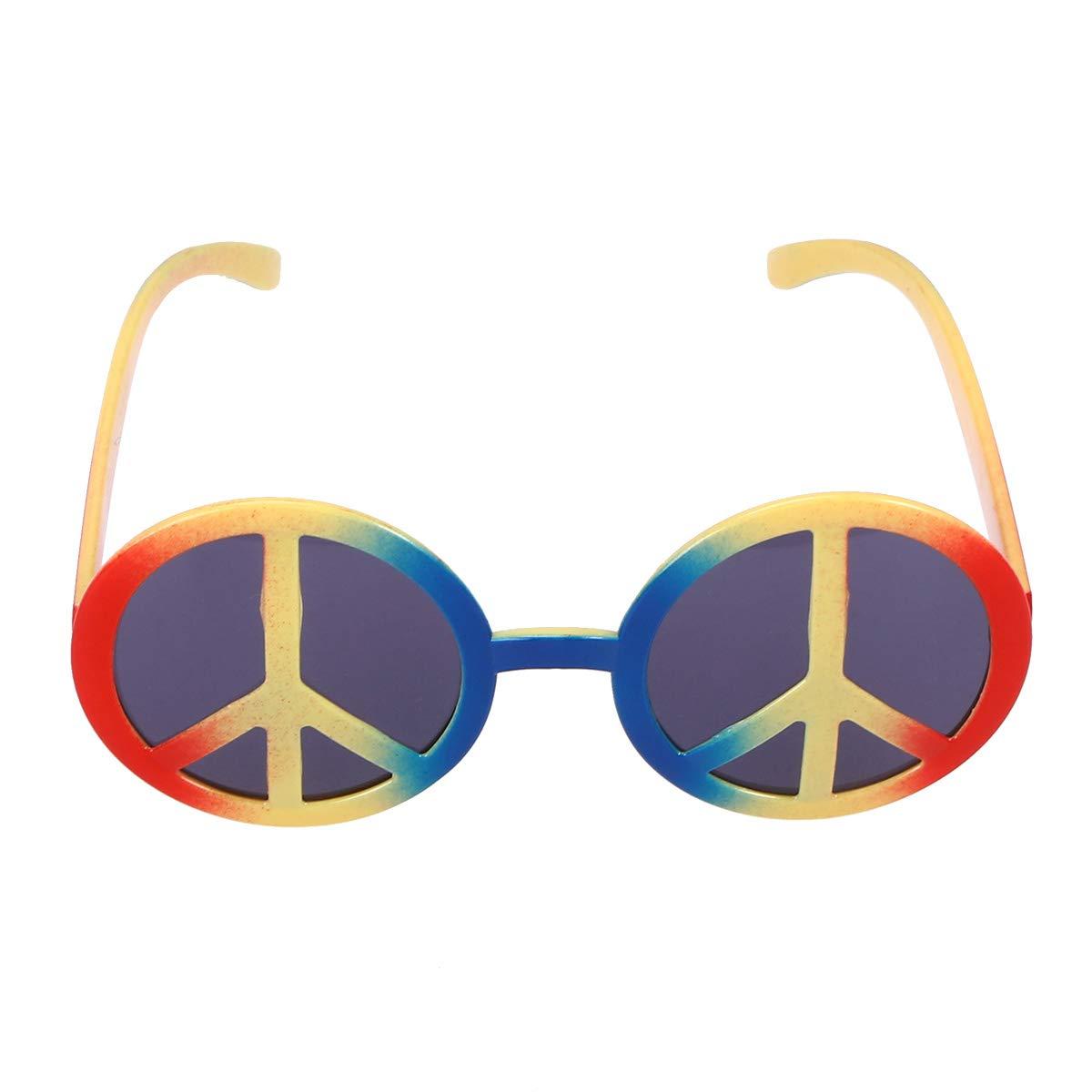 BESTOYARD Lustige Tanzparty Make-up Antikriegszeichen Brille Brillen fü r Maskerade Halloween Party (Multicolor)