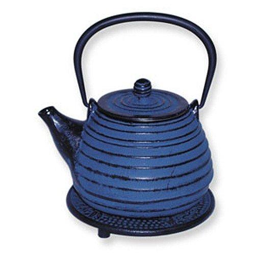 BigKitchen Japanese Tetsubin Cast Iron Blue Beehive Teapot Removable Infuser ()