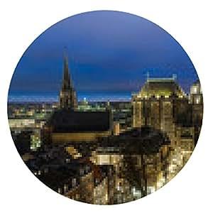 alfombrilla de ratón La catedral de Aquisgrán en la noche - ronda - 20cm
