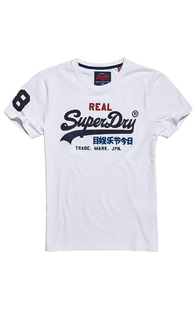 Superdry Vintage Logo Tri tee Camiseta para Hombre: Amazon.es: Ropa y accesorios
