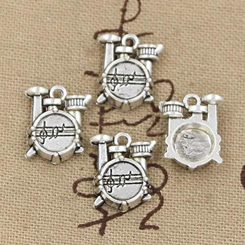 Mct12-15pcs Charms drum set 16x14x4mm Antique Silver Plated Pendants Making DIY Handmade Tibetan Silver Jewelry