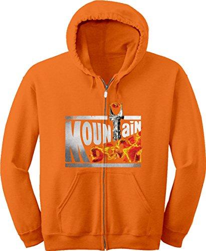 Hoody Zip Lrg (BSW Youth Mountain Doom Dew Eye of Sauron Drink Zip Hoodie LRG Orange)