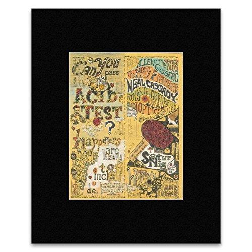 California Frame Mini (Grateful Dead Neal Cassady - The Acid Tests - Muir Beach California 1965 - Rock Mini Poster - 40.5x30.5cm)