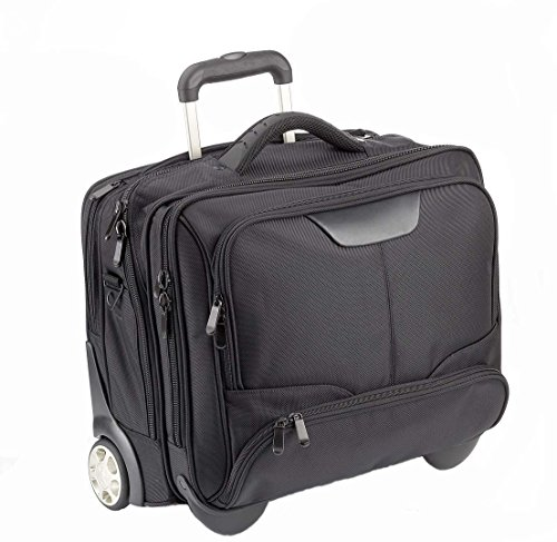 "Business Trolley 3 D456NY black innen grau Laptoptasche 17"" Uni...""Dermata/lefox"