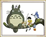 Happy Forever Cross Stitch, Cartoon, my neighbor totoro 1