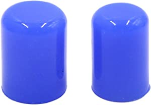 uxcell 2Pcs 16mm 5/8 inches Silicone Blanking Cap Intake Vacuum Hose Tube End Bung Blue