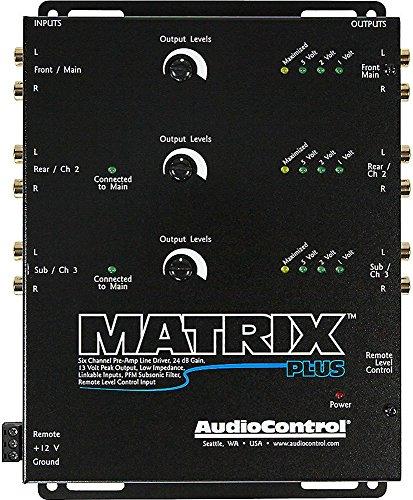 AudioControl Matrix Plus Black Six Channel Line Driver with Remote Level Control Input ()