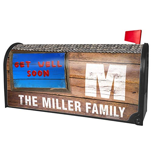 NEONBLOND Custom Mailbox Cover Get Well Soon Red Balloon