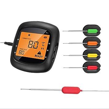 Termómetro de carne inalámbrico para asar, Aidmax Pro05, termómetro de cocina digital Bluetooth inalámbrico