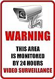 "Outdoor/Indoor 8.27"" high x 5.51"" wide Home Business Security DVR Camera Video Surveillance System Window Door Wall Warning Alert Sticker Decals **Back Self Adhesive Vinyl**"