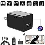 WIFI Spy Hidden Camera Wall Charger Camera By DigiHero - 1080P WiFi Remote View - Alarm System - Charging Phones - Can Charge Phone While Recording.Support iPhone/Android App