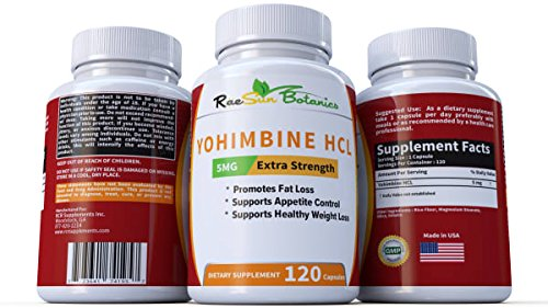 RaeSun Botanics Yohimbine HCL 5mg x 120ct Capsules Supplement Extra Strength Proven Fat Burner, Weight Loss, Appetite Control, Male Enhancement, and Energy by RaeSun Botanics (Image #2)