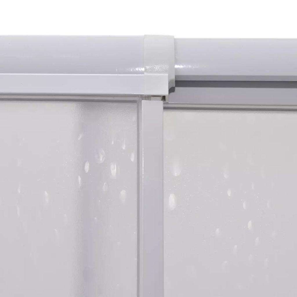 vidaXL Cabina de Ducha Pantalla de PP Marco de Aluminio Rectangular 80 x 80 cm