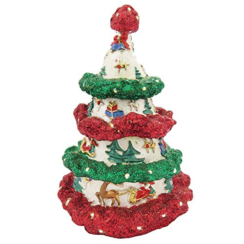 Christmas Tree with Swarovski Crystals Trinket Box