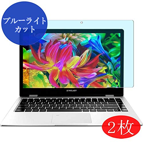"【2 Pack】 Synvy Anti Blue Light Screen Protector for Teclast F6 Pro 13.3"" Anti Glare Screen Film Protective Protectors [Not Tempered Glass]"