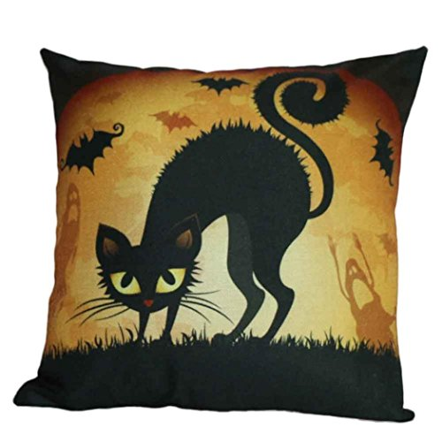 [Home Decor Pillow, Gillberry Halloween Pumpkin Square Pillow Cover Cushion Case Pillowcase Zipper Closure] (Diy Halloween Decor)
